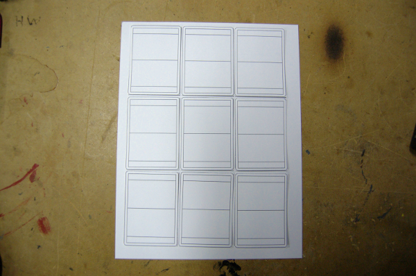 A blank card template for card game prototypes